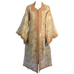 Gorgeous Caftan Gold Brocade Circa 1970s, Maxi Dress Kaftan
