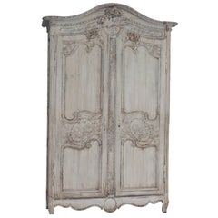 18th Century Fine Carved Wedding Armoire from Normandy