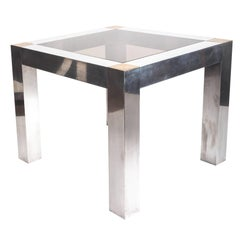 Paul Evans style Aluminum and Brass Parsons Table