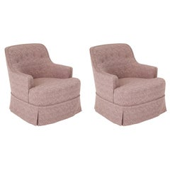 Edward Wormley Smokey Amethyst Slipper Chairs