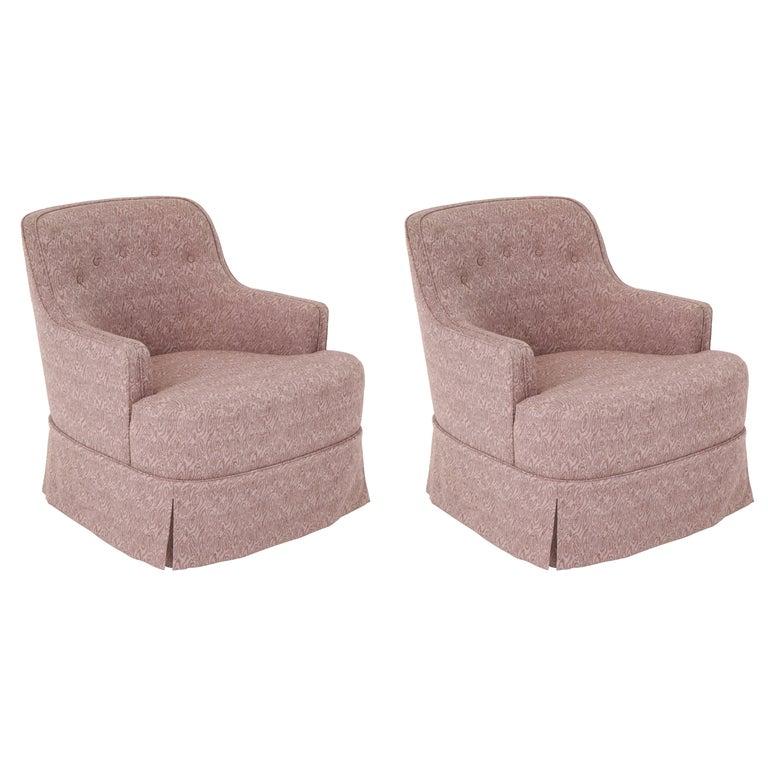 Edward Wormley Smokey Amethyst Slipper Chairs For Sale