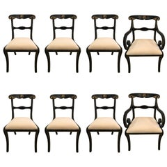 Classically Elegant Set of Eight Regency Style Dining Chairs by Kittinger