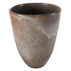 Mid-Century Modern Hand-Thrown Drip Glaze Oversize Vase