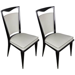 Pair of French Mid-Century Modern Side Chairs