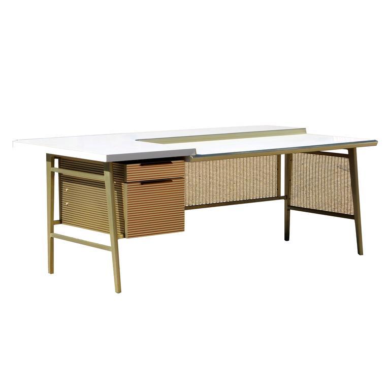 """Italic Styling"" Executive Desk from Gordon Bunshaft Building 1"