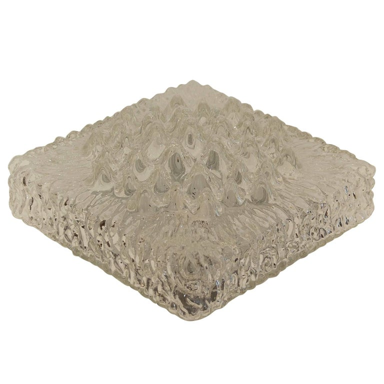 Stalactite-Form Glass Flushmount