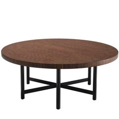 Large Jules Wabbes Wenge Table with Hexogonal Frame