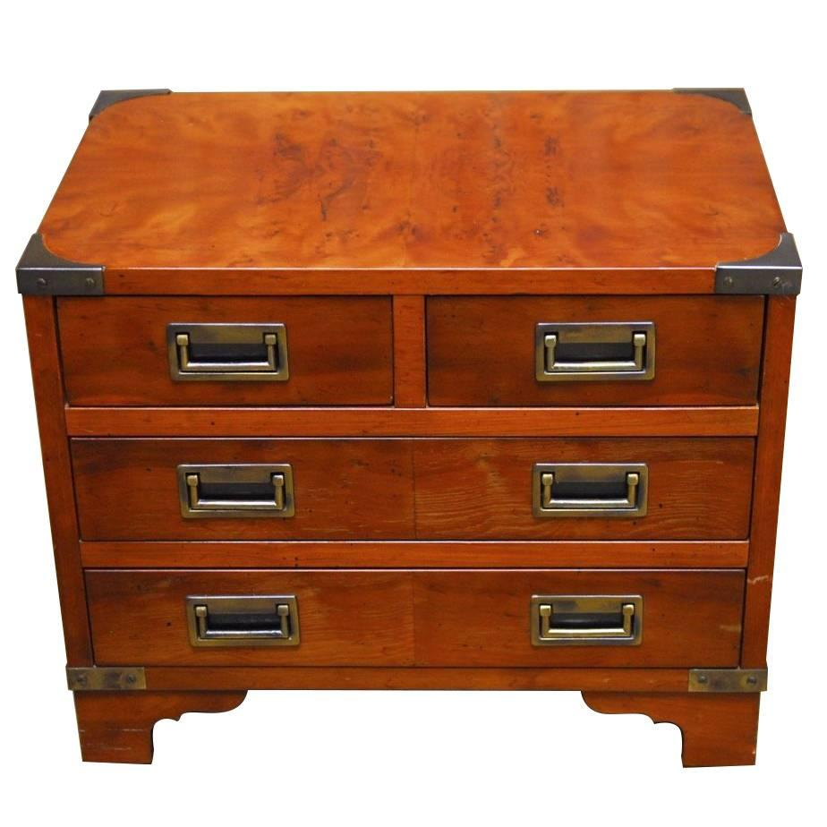 diminutive campaign style chest or dresser by hekman