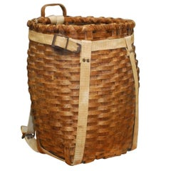 American Adirondack Trappers Basket or Pack Basket