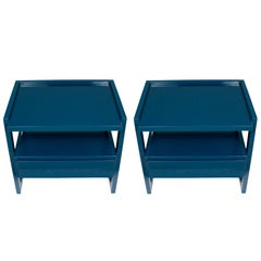 A Pair of Chic Lacquered Bedside Tables