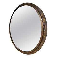 Round Industrial Steel Mirror