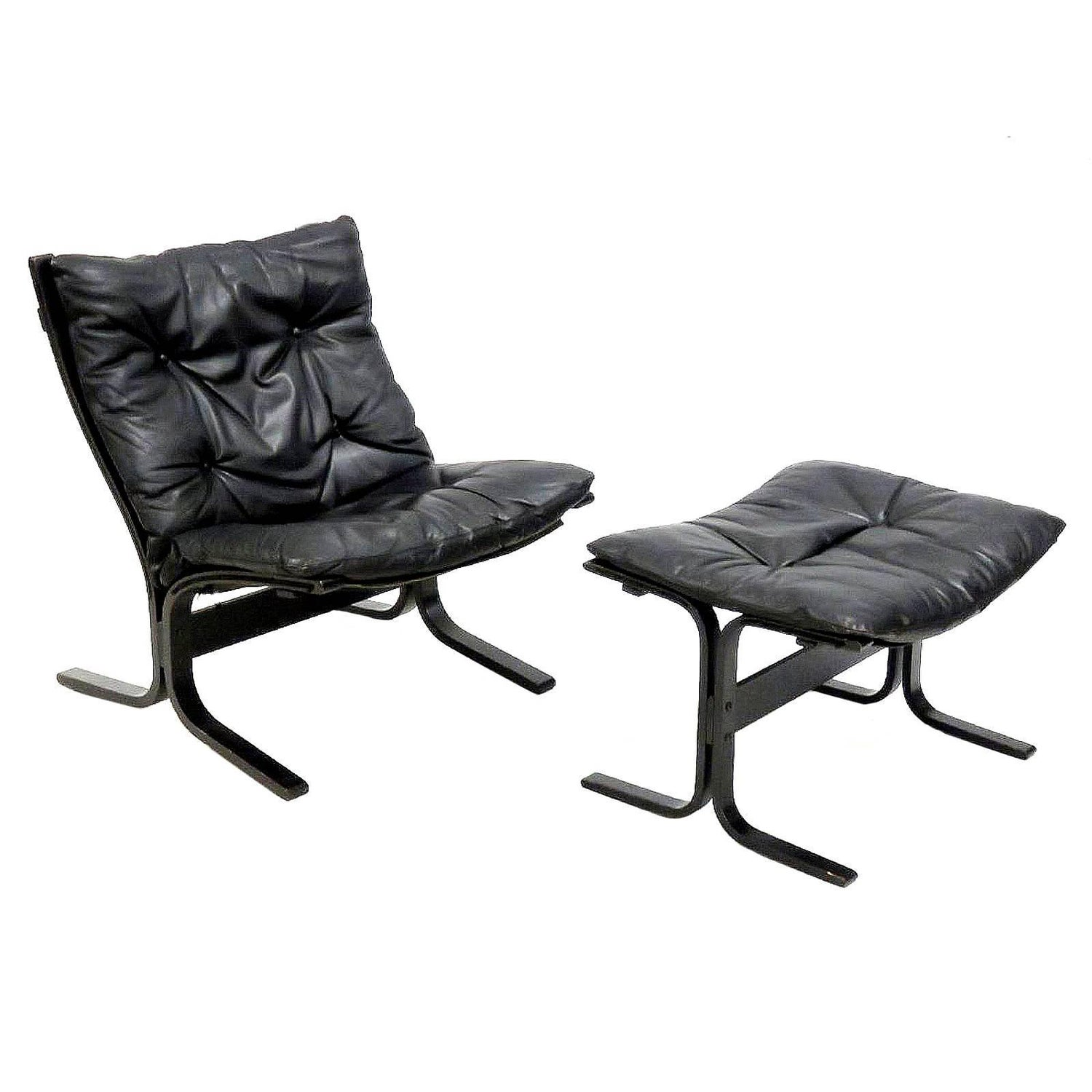 Ingmar Relling for Westnofa Folding Lounge Chair and Ottoman For