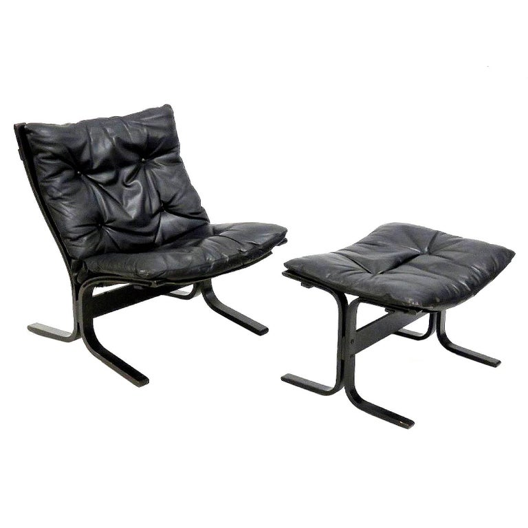 Siesta Chair and matching Ottoman by Ingmar Relling for Westnofa