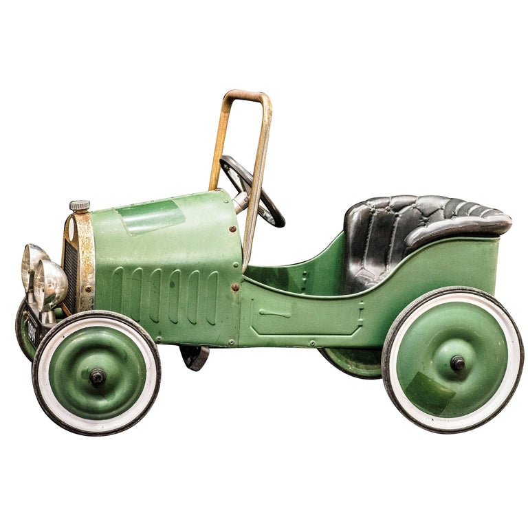 Mid-20th Century french  green  toy  Car