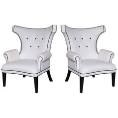 "Custom ""Dorothy Draper"" Style Salon Chairs Designed by Susane R"