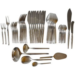 "Set for 8 Pers Including Serving Cutlery ""Cheri"" By Henning Seidelin for Frigast"