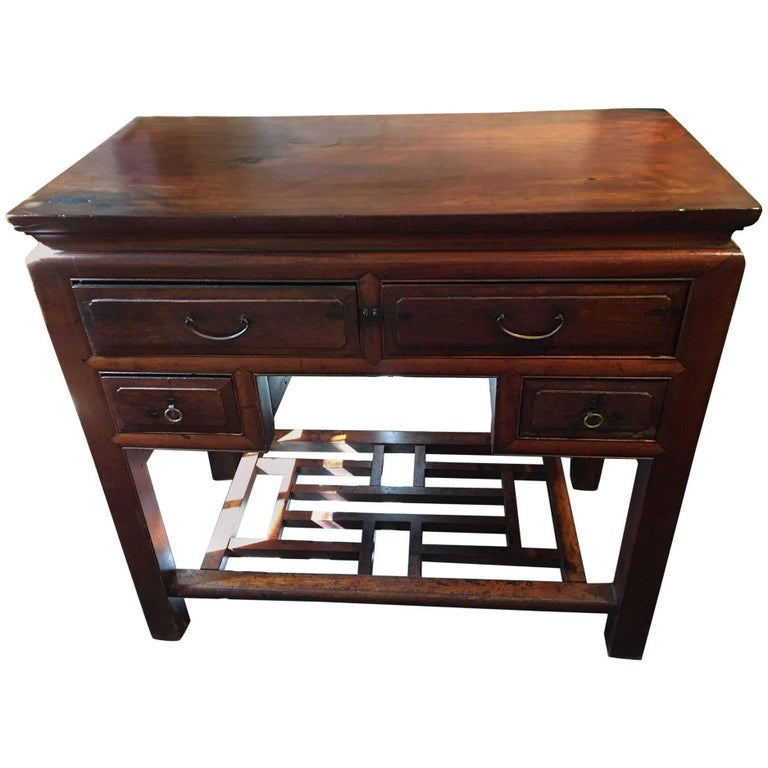 Chinese Scholar's Desk or Side Table, Early 19th Century For Sale
