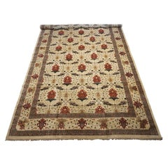 Art & Craft Hand-Knotted Wool Area Rug