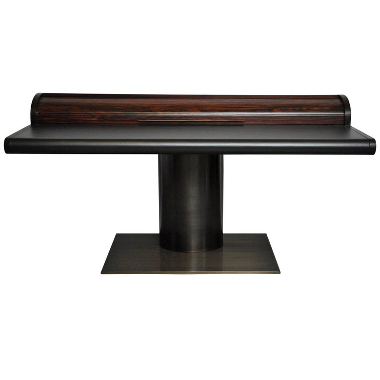 Dunbar Rosewood and Leather Floating Pedestal Desk by Edward Wormley