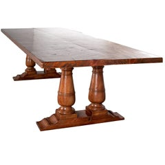 Double Pedestal Farmhouse Dining Table