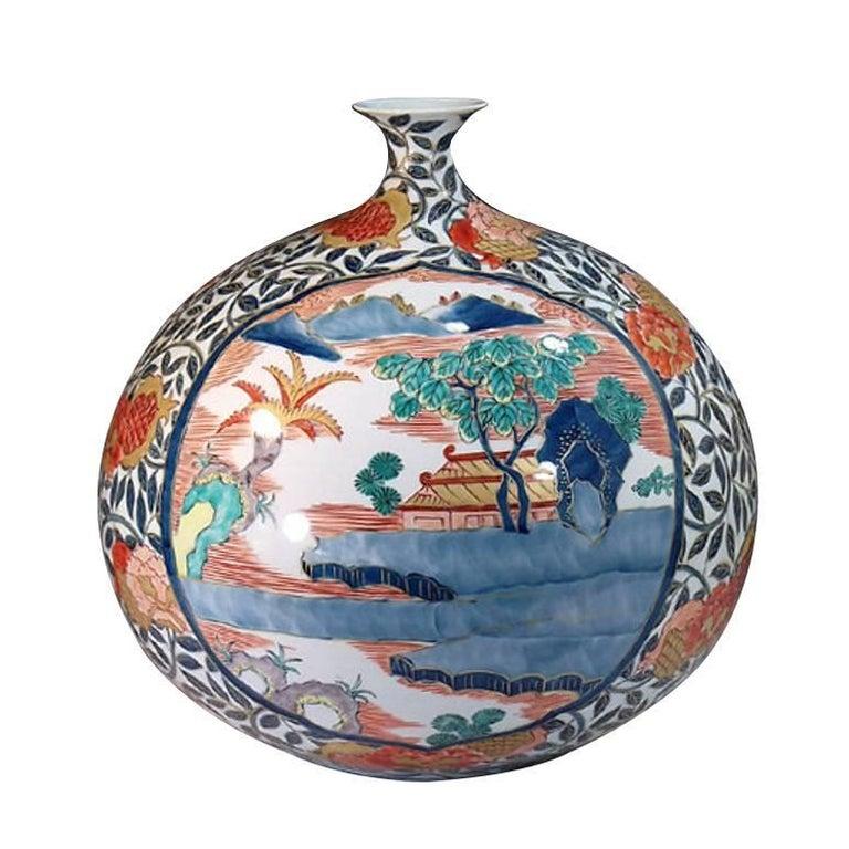 Contemporary Large Imari Porcelain Vase by Japanese Master Artist