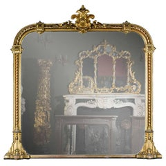 Victorian Giltwood Overmantel Mirror