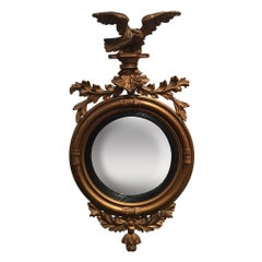 Federal Bullseye Convex Mirror with an Eagle, 19th Century