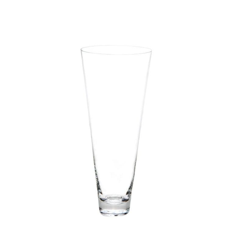 Set of Two Deborah Ehrlich Simple Crystal Pilsner Glasses, Handblown in Sweden