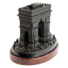 Detailed 19th Century Grand Tour Bronze or Marble Model of the Arc De Triomphe