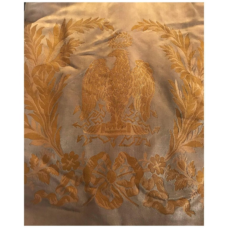 Napoleon Empire 1809 Historic Palais Beauharnais Curtains his personal Bed !