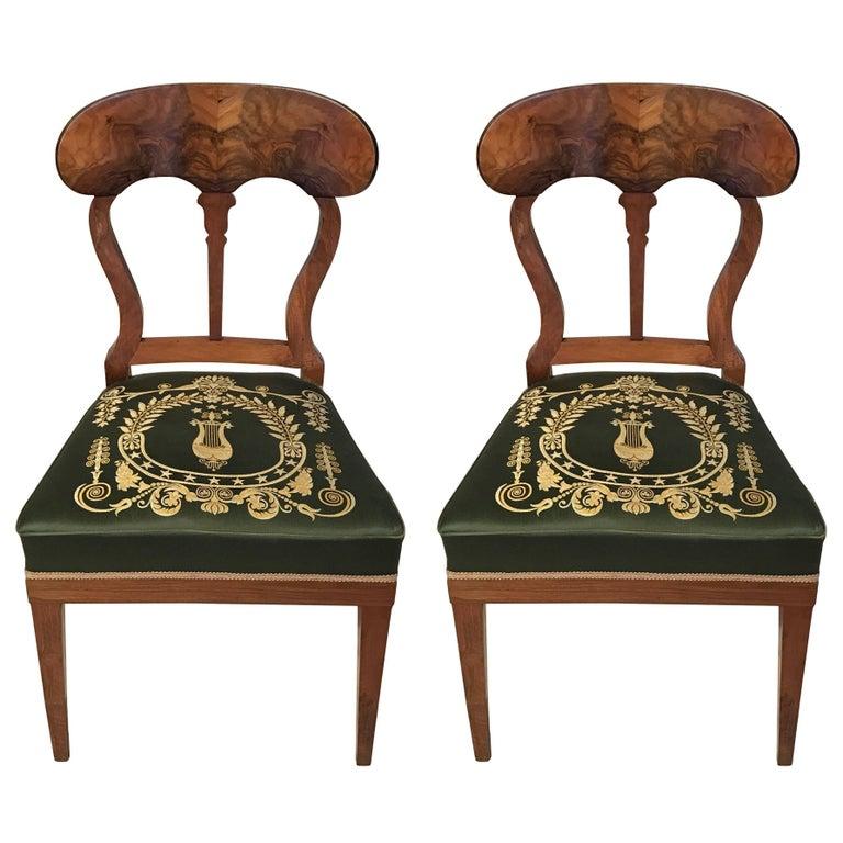 Pair of Biedermeier Chairs, Germany, 19th Century