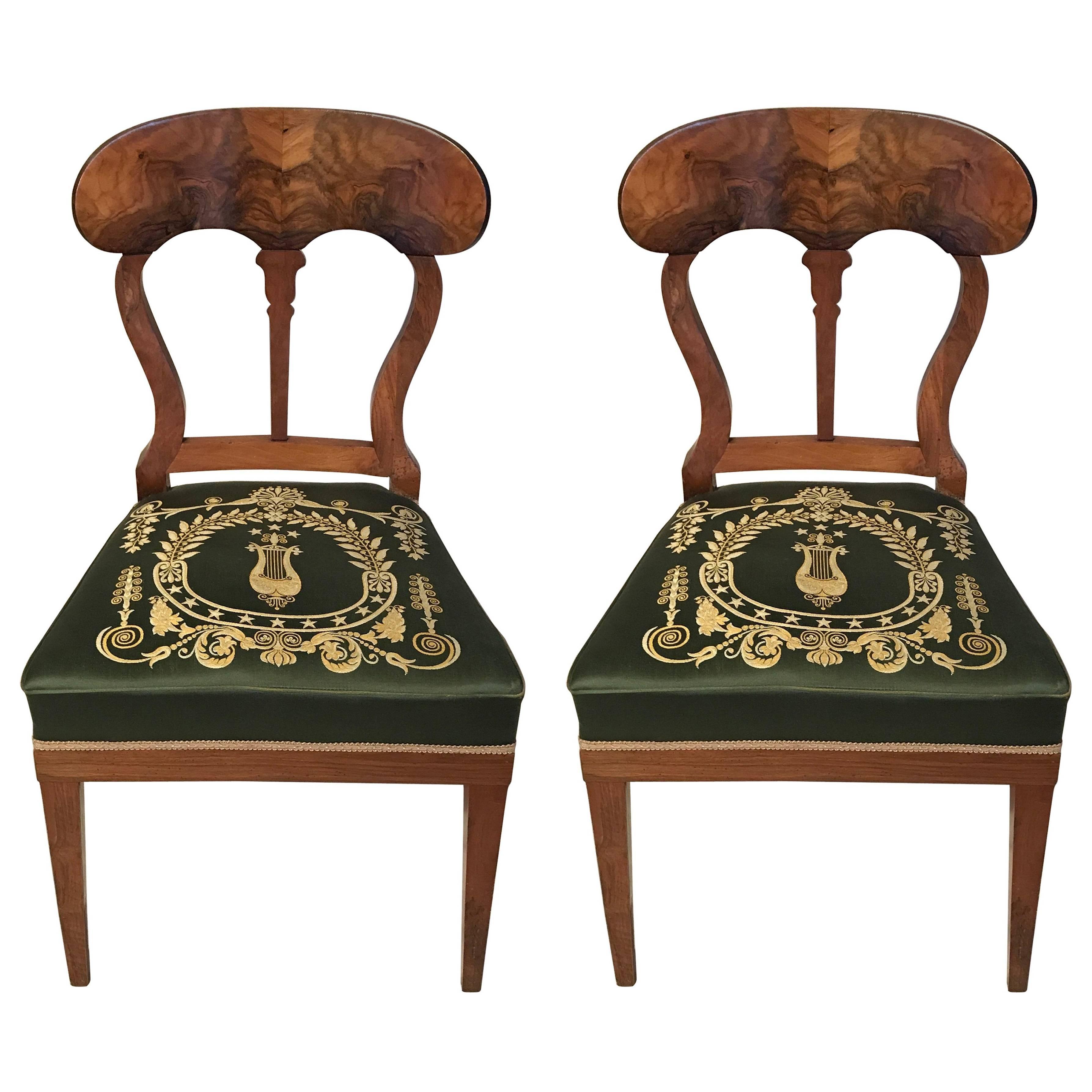 Pair Of Biedermeier Chairs, Germany, 19th Century 1