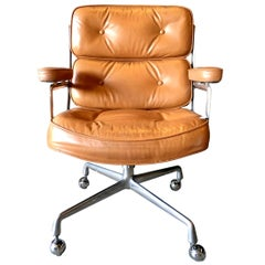 Vintage Tan Leather Time Life Chair