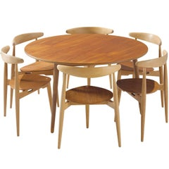 Hans Wegner 'Heart' Dining Set for Fritz Hansen