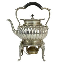 Antique Edwardian Sterling Silver Tea Kettle by William Hutton & Sons Ltd