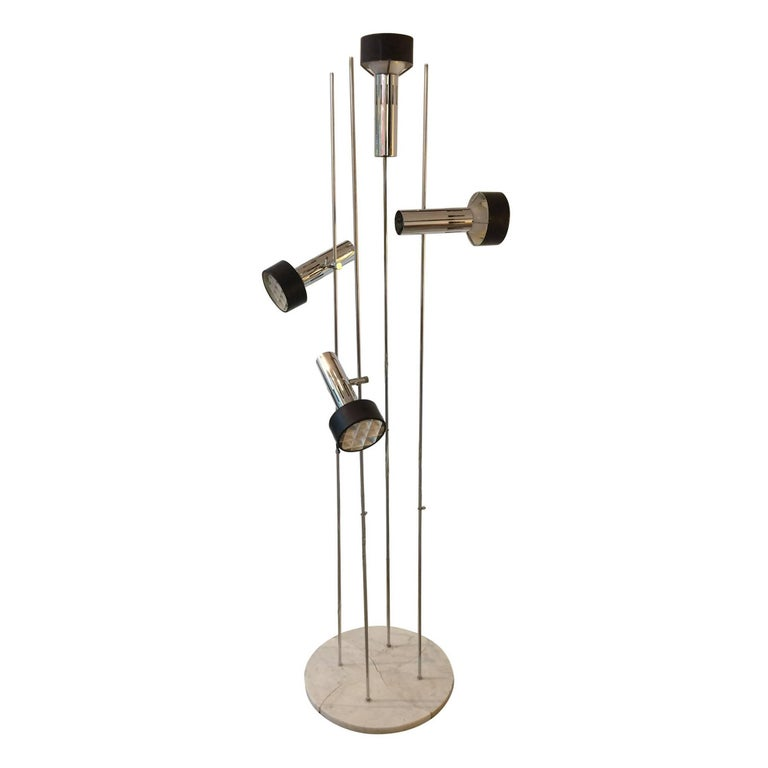 Alain Richard Set of Four A15 Marble Floor Lamps by Disderot
