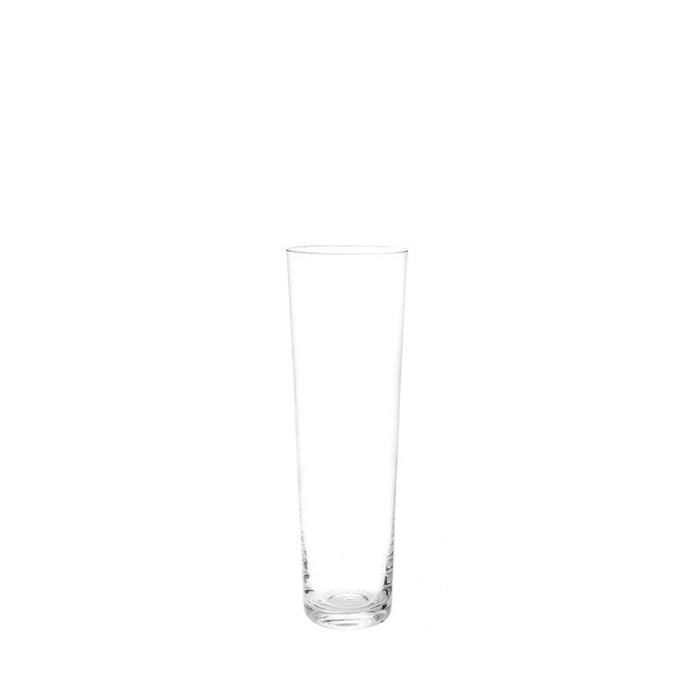 Set of Six Deborah Ehrlich Simple Crystal Champagne Glasses, Handblown in Sweden