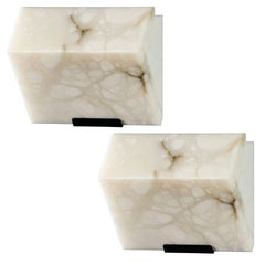 Pierre Chareau Small 'Single Block' Model #145 Sconce