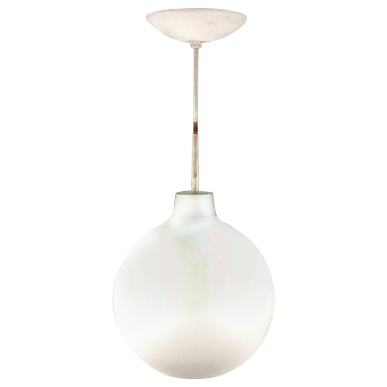 Frosted Glass Pendant Attributed to Attributed to Stilux, circa 1960 For Sale