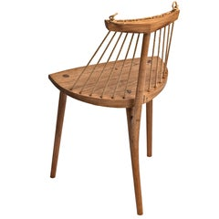 Contemporary Chair, Three Legged in Brazilian Hardwood