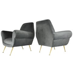 Italian Armchairs by Gigi Radice for Minotti, 1950s