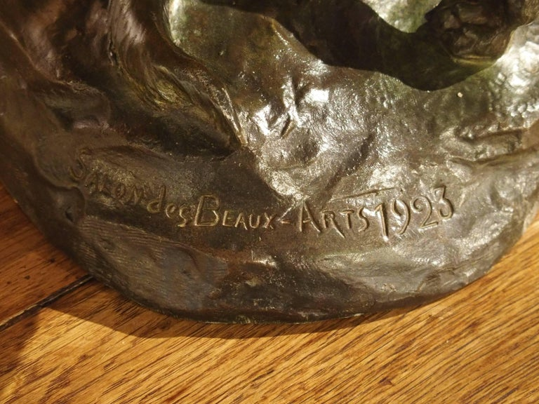 French bronze sculpture of two dogs r varnier for the for Salon des beaux arts