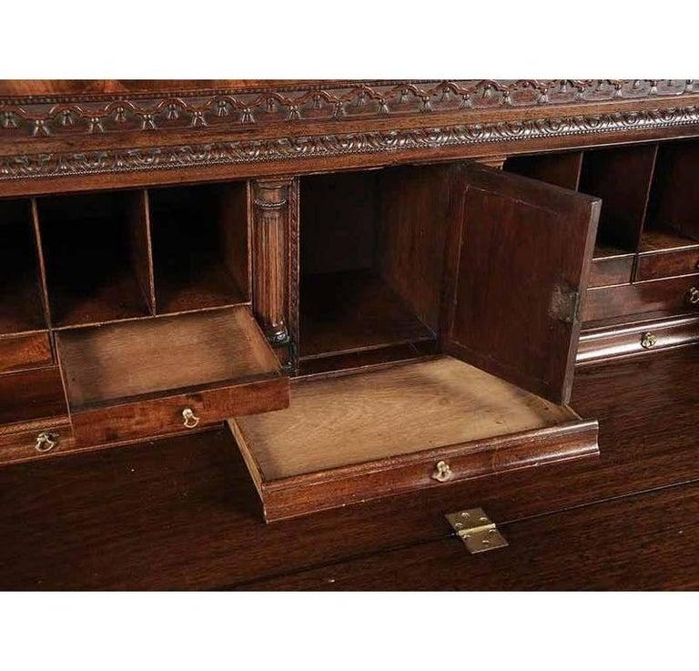 Period Chippendale Figured Mahogany Secretary Bookcase, circa 1765 For Sale 2