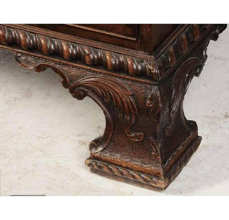 Period Chippendale Figured Mahogany Secretary Bookcase, circa 1765 For Sale 4