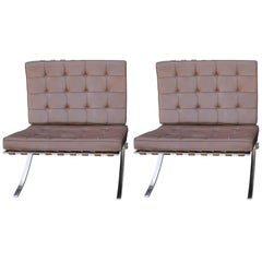 Pair of Mies van der Rohe Knoll Barcelona Chairs