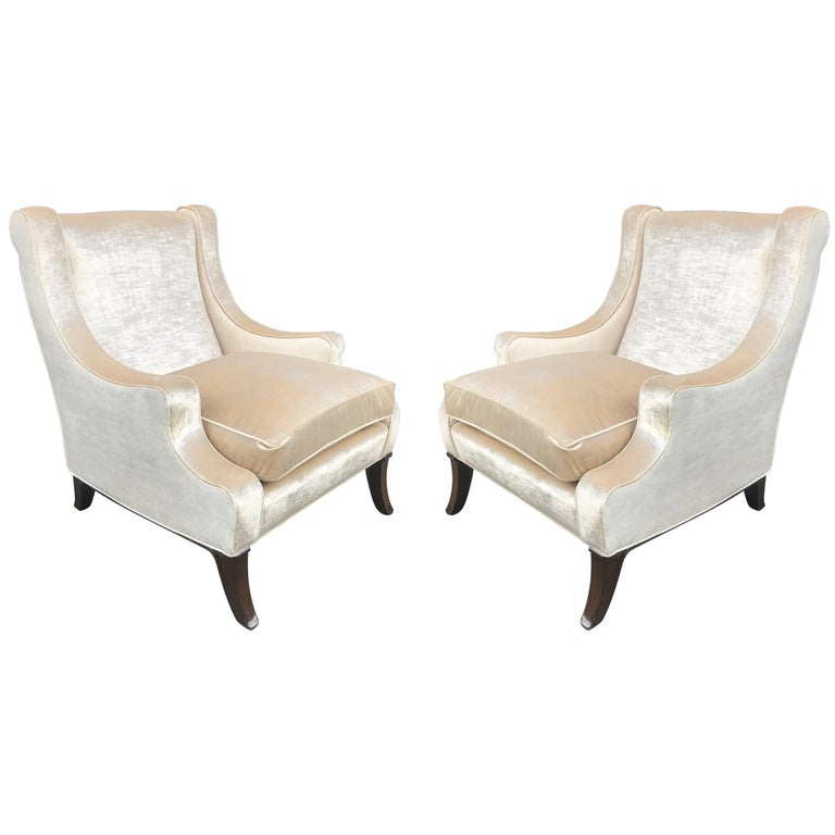 Pair of Lounge Chairs Style of Robsjohn-Gibbings For Sale