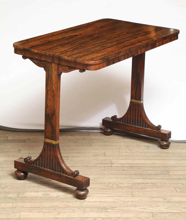 British Rosewood Regency Table For Sale