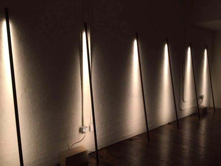 Maple LED Line Light Sculpture For Sale 3