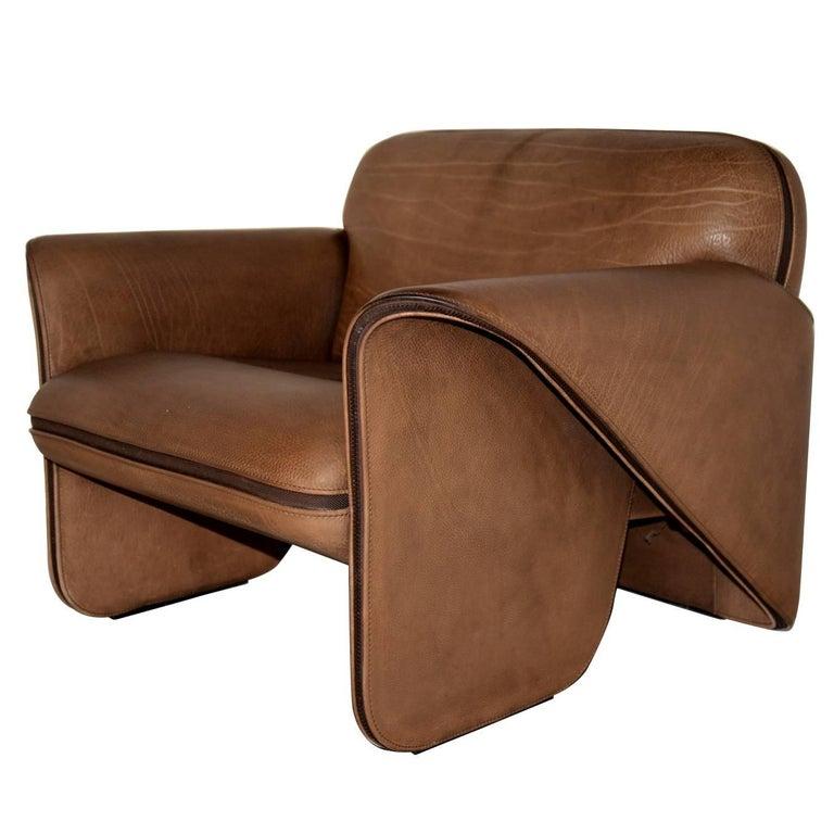 Vintage Swiss De Sede 'DS 125' Armchair Designed by Gerd Lange, 1978