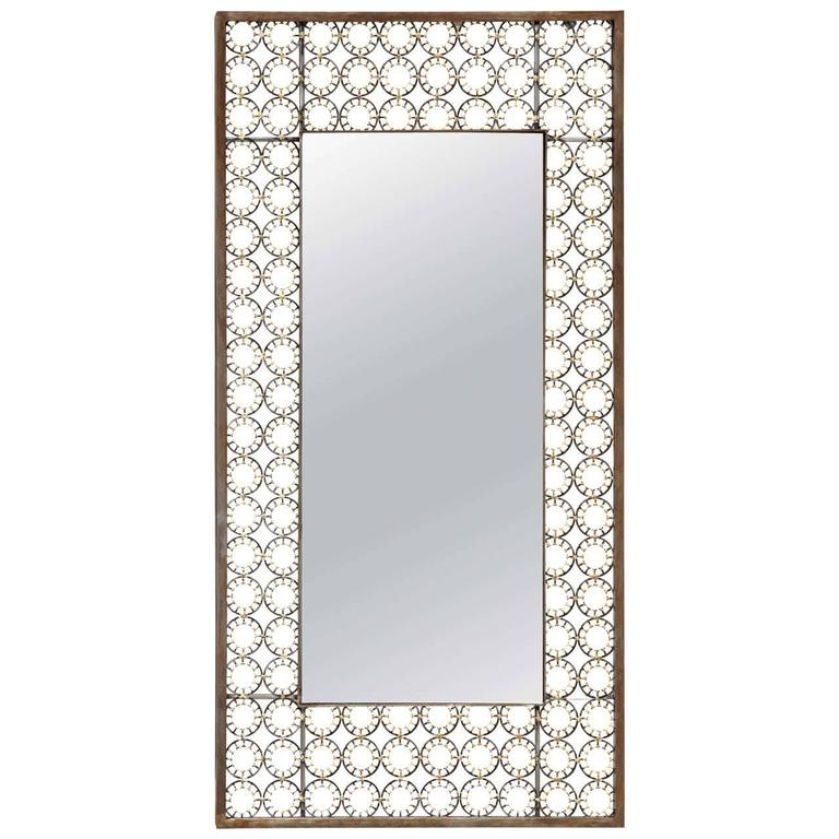 Marie Suri Iron and Bronze Ovation Mirror For Sale 4